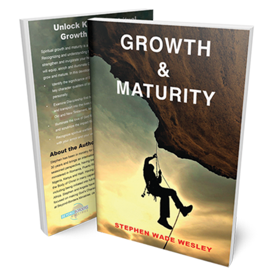 Paperback book with the cover reading Growth and Maturity by Stephen Wade Wesley